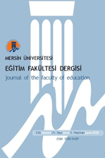 Mersin University Journal of the Faculty of  Education